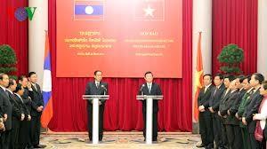 Le secrétaire général et président du Laos Chummaly Sayasone est au Vietnam - ảnh 2