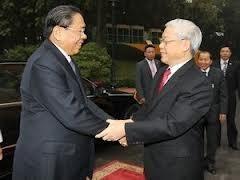 Le secrétaire général et président du Laos Chummaly Sayasone est au Vietnam - ảnh 1