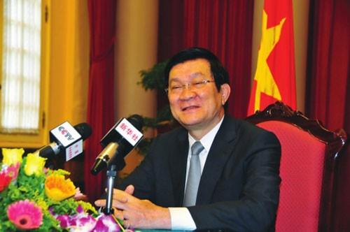Truong Tan Sang en Chine - ảnh 1