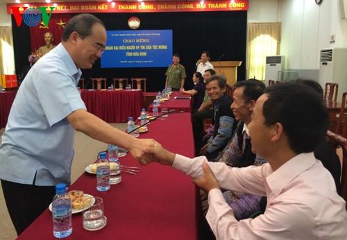 Nguyen Thien Nhan reçoit les patriarches Mong de Hoa Binh - ảnh 1