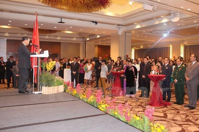 Le 70è anniversaire de l'armée vietnamienne célébré à Singapour et en Afrique du Sud - ảnh 1