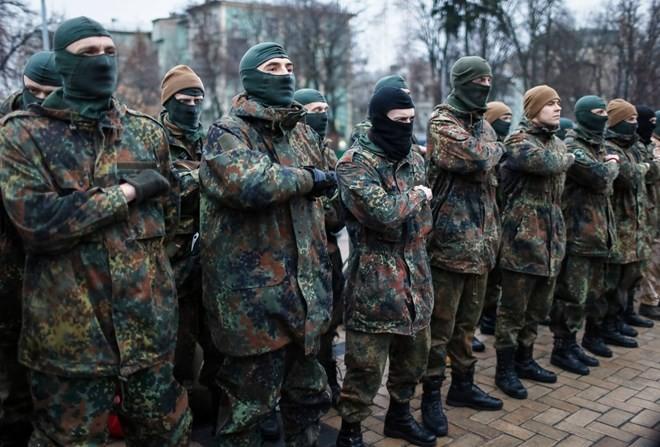 Ukraine : les manifestants demandent à Petro Porochenko de démissionner - ảnh 1