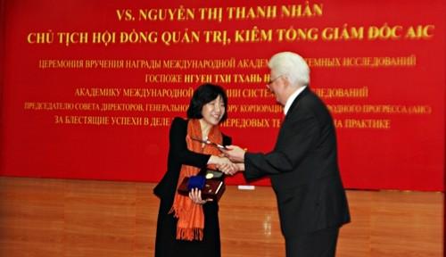 Premier prix d'IASS à une femme scientifique vietnamienne - ảnh 1