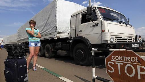 L'Ukraine interdit les camions russes sur son territoire - ảnh 1