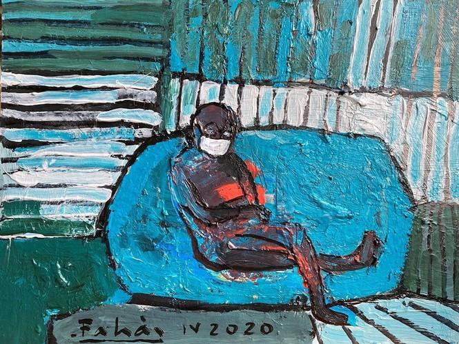 Exposition de peintures créées durant la distanciation sociale - ảnh 13