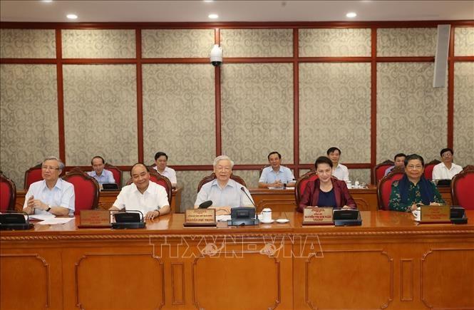Nguyên Phu Trong rencontre le comité du Parti de la province de Thanh Hoa  - ảnh 1