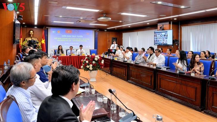 Forum en ligne: «Accord de libre-échange Vietnam-Union européenne: Un chemin profitable – un chemin difficile» - ảnh 10