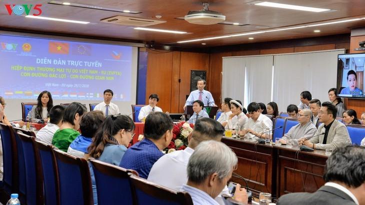 Forum en ligne: «Accord de libre-échange Vietnam-Union européenne: Un chemin profitable – un chemin difficile» - ảnh 1