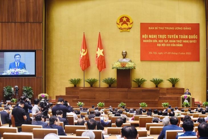 Clôture de la visioconférence nationale sur la résolution du 13e Congrès national du PCV - ảnh 1