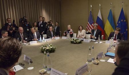 Rusia mencela penilaian AS tentang permufakatan mengatasi krisis Ukraina - ảnh 1