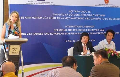 Vietnam dan EU berbagi pengalaman tentang kebebasan berkepercayaan dan beragama - ảnh 1