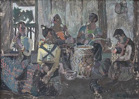 Memugar lukisan-lukisan yang terkenal di Vietnam - ảnh 2