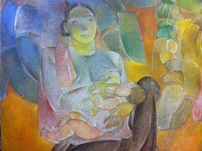 Memugar lukisan-lukisan yang terkenal di Vietnam - ảnh 1