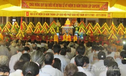 Memperingati ulang tahun ke-35 Berdirinya Sangha Buddha Vietnam - ảnh 1