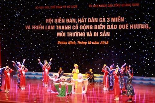 Membarui irama-irama lagu rakyat: Ditinjau dari festival memainkan instrumen musik dan menyanyikan lagu rakyat dari tiga penjuru Tanah Air - ảnh 1