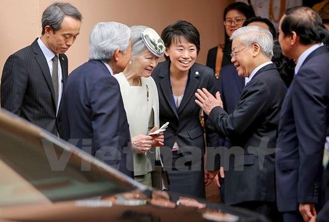 Sekjen, Presiden Nguyen Phu Trong mengirimkan surat kepada Ayah Kaisar Jepang, Akihito - ảnh 1