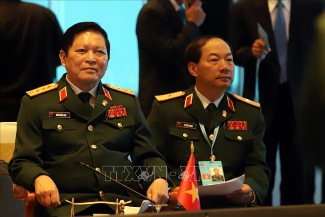 Pembukaan Konferensi Menhan ASEAN yang terbatas: Kerjsama keamanan yang berkesinambungan - ảnh 1