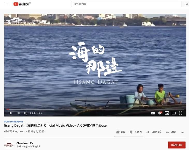 Opini umum Filipina merasa gusar terhadap lagu yang menyelipkan masalah Laut Timur - ảnh 1