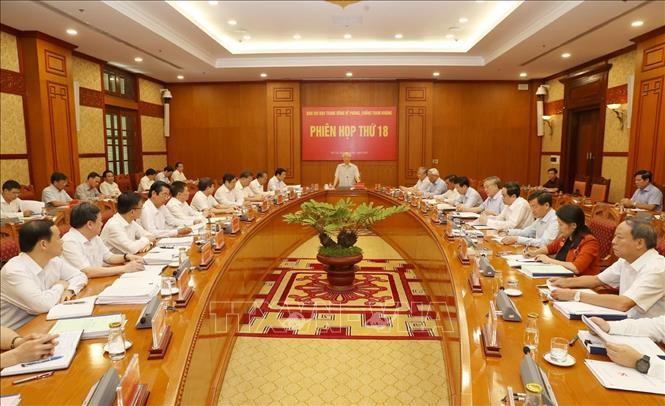 Sekjen, Presiden Nguyen Phu Trong memimpin sidang ke-18 Badan Pengarahan Pusat tentang Pencegahan dan Pemberantasan Korupsi - ảnh 1