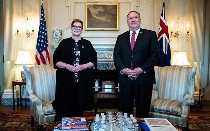 Australia dan AS membahas masalah Laut Timur  Konferensi AUSMIN 2020 - ảnh 1