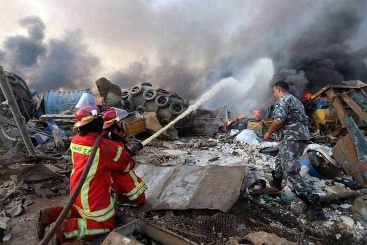 Jumlah korban  akibat ledakan di Beiruth meningkat - ảnh 1