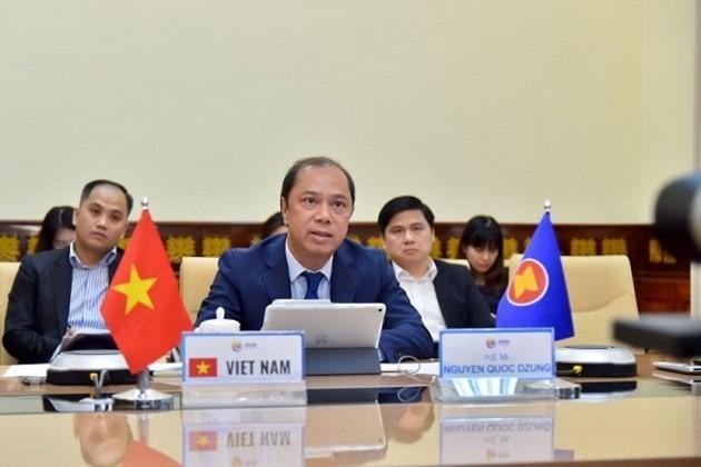 Se celebra la reunión virtual de los Altos Funcionarios de la Asean - ảnh 1