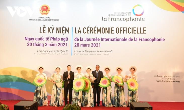 """Peringati Hari Francophonie Internasional 2021: Menuju ke satu """"Komunitas yang Penuh dengan Solusi"""" - ảnh 1"""
