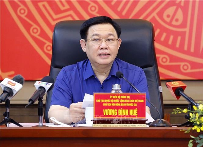 Ketua MN Vuong Dinh Hue Lakukan Temu Kerja dengan Pimpinan Kota Hai Phong - ảnh 1