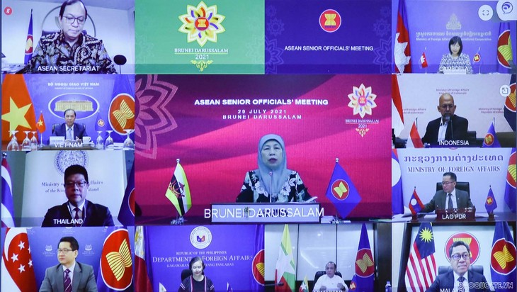 Konferensi Pejabat Senior ASEAN Persiapkan Konferensi Menlu ASEAN ke-54 - ảnh 2