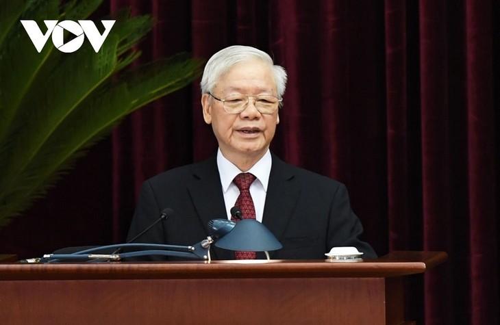 Sekjen Nguyen Phu Trong Imbau Rakyat, Prajurit Seluruh Negeri dan Perantau Viet Nam di Luar Negeri agar Kompak Lawan Pandemi Covid-19 - ảnh 1