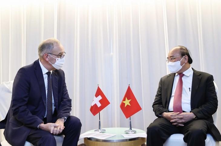 Presiden Nguyen Xuan Phuc dan Pimpinan Negara-Negara Sepakat Memperkuat Kerja Sama Bilateral - ảnh 2