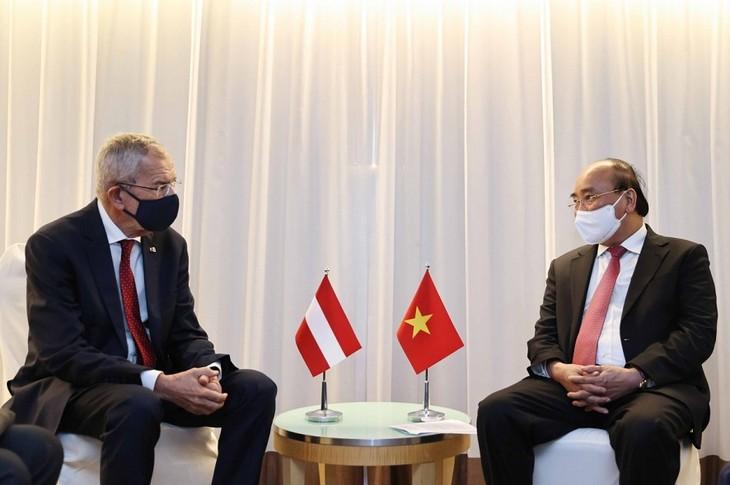 Presiden Nguyen Xuan Phuc dan Pimpinan Negara-Negara Sepakat Memperkuat Kerja Sama Bilateral - ảnh 3