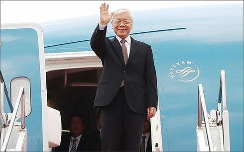 Líder partidista de Vietnam visita Cuba - ảnh 1