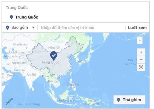 Facebook retiró a territorios vietnamitas del mapa chino - ảnh 1