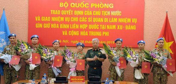 Otros siete combatientes vietnamitas asumen misiones de paz de la ONU  - ảnh 1