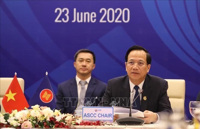 Efectúan la XXIII Conferencia de la Comunidad Sociocultural de la Asean  - ảnh 1