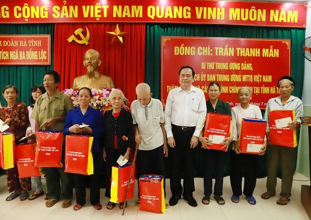 Jefe del Frente de la Patria de Vietnam visita a familias beneficiadas por políticas preferenciales - ảnh 1