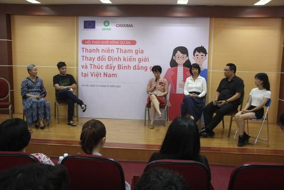 Jóvenes vietnamitas por cambiar estereotipos de género y promover la igualdad de género - ảnh 1