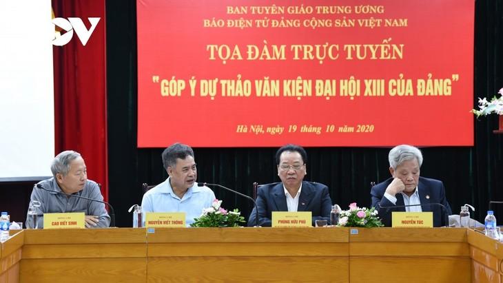 Coloquio sobre los documentos a presentarse en el XIII Congreso Nacional del Partido - ảnh 1