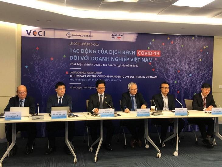 Publican el Informe sobre el impacto del covid-19 en el sector empresarial de Vietnam en 2020 - ảnh 1