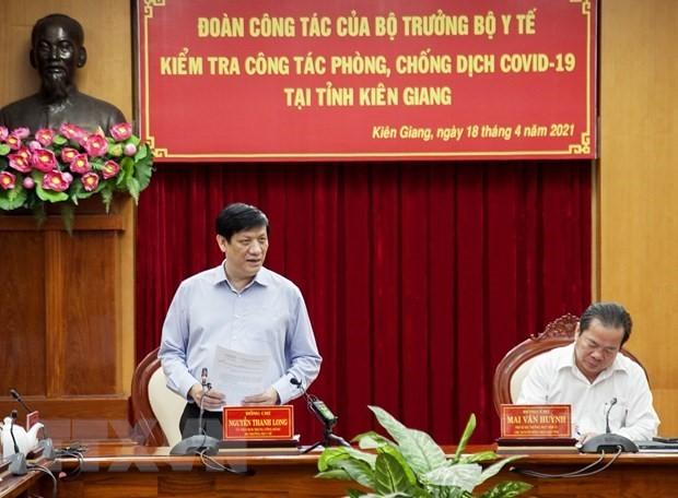 Titular de Salud Pública orienta la respuesta anticovid-19 en Kien Giang - ảnh 1