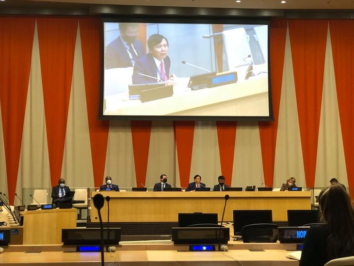 Vietnam finaliza con éxito el mes de presidente del Consejo de Seguridad, informa Dang Dinh Quy - ảnh 1