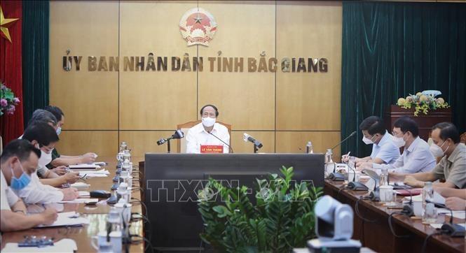 Promueven la recuperación económica y la respuesta al covid-19 en Bac Giang - ảnh 1