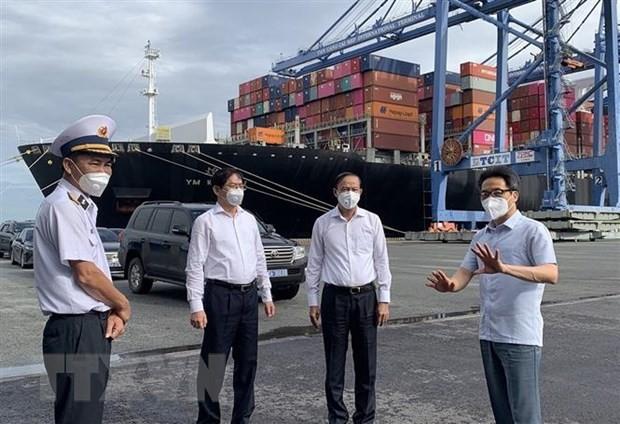 El viceprimer ministro Vu Duc Dam supervisa el control del covid-19 en Ba Ria-Vung Tau - ảnh 1