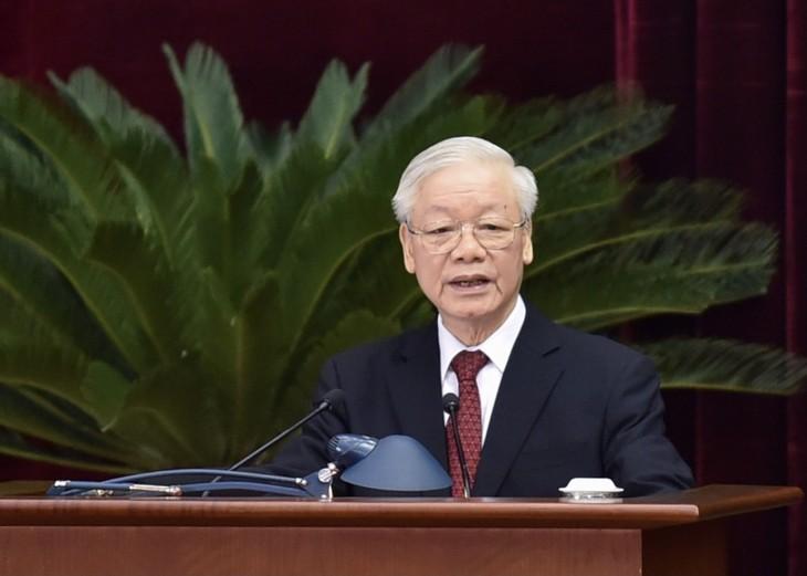 Inauguración del cuarto Pleno del Comité Central del Partido Comunista de Vietnam - ảnh 1