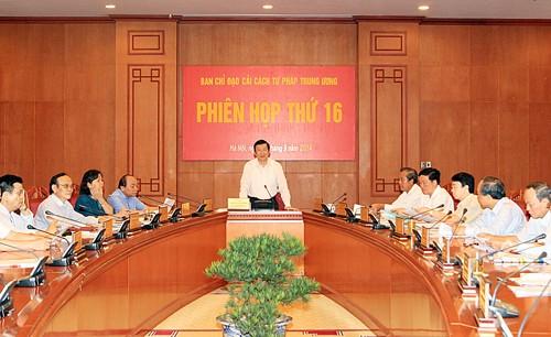 中央司法改革指導委員会第16回会議 - ảnh 1