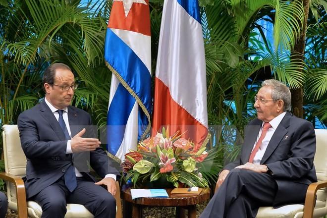 仏大統領、キューバ訪問を終える - ảnh 1