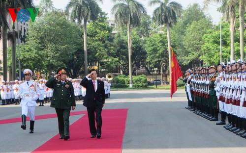 サン国家主席、韓国国防相と会見 - ảnh 1