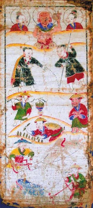 少数民族サンチ族の礼拝用の本と絵 - ảnh 2