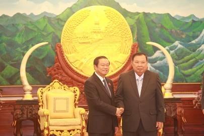 ラオス書記長、ベトナムの国会副議長と会見 - ảnh 1